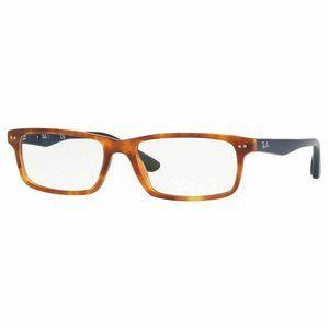 Ray-Ban Eyeglasses Shiny Red Havana W/Demo Lens